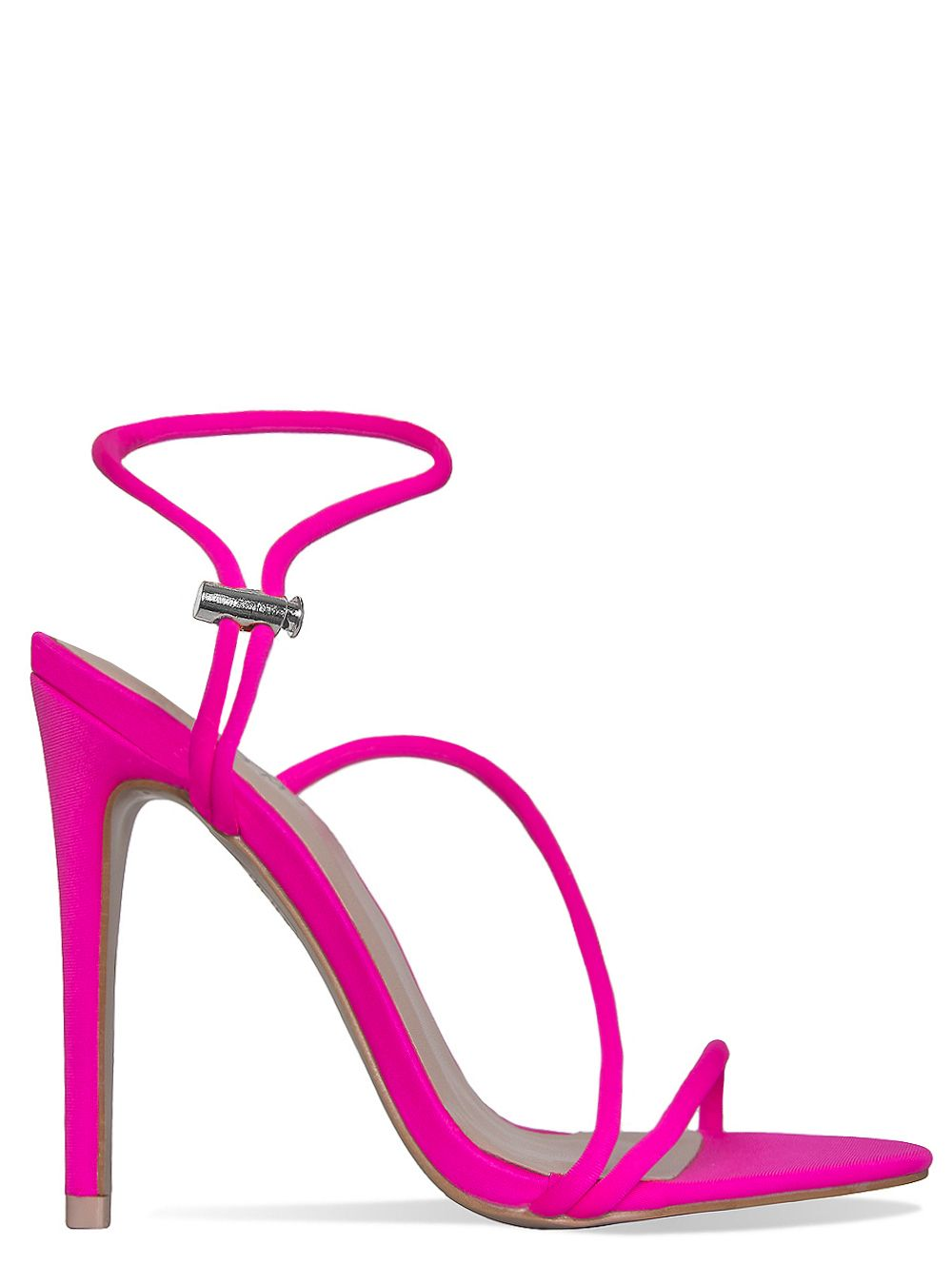 run shoes classic uk availability Cherry Neon Pink Strappy Toggle Heels