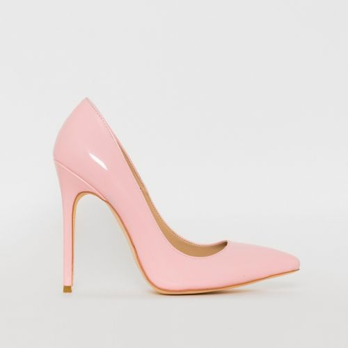 Mila Pink Patent Stiletto Court Shoes