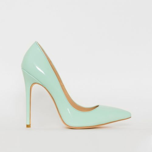 Mila Mint Patent Stiletto Court Shoes