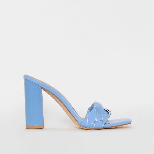 Toura Blue Woven Block Heels