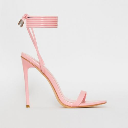 Whitney Pink Patent Tie Up Stiletto Heels