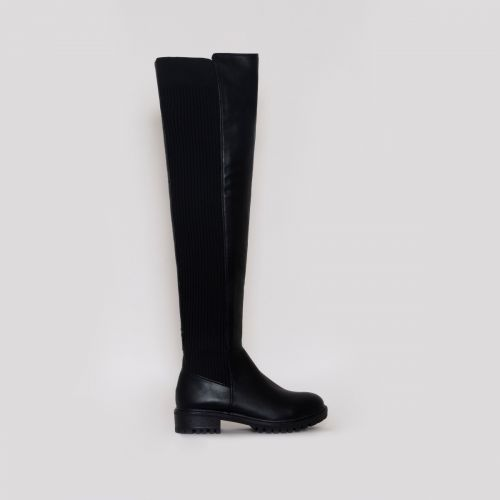 Jira Black Flat Over The Knee Boots