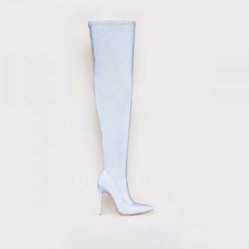 Isabel Reflective Thigh High Stiletto Boots