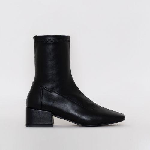 Zenya Black Flat Ankle Boots