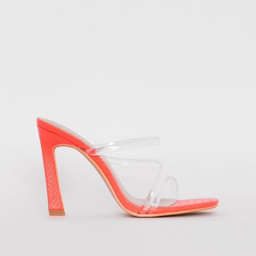 Truth Coral Snake Print Clear Mules
