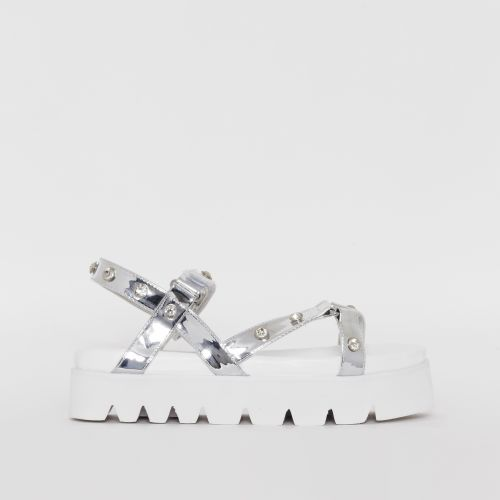 Shannon Silver Gem Chunky Sandals