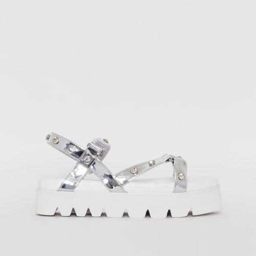Shannon Silver Gem Chunky Sandals