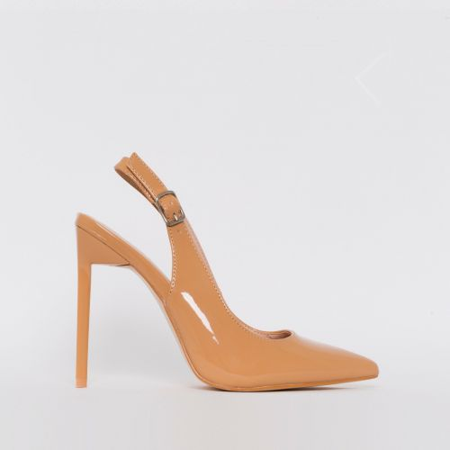 Ines Nude Patent Slingback Court Heels