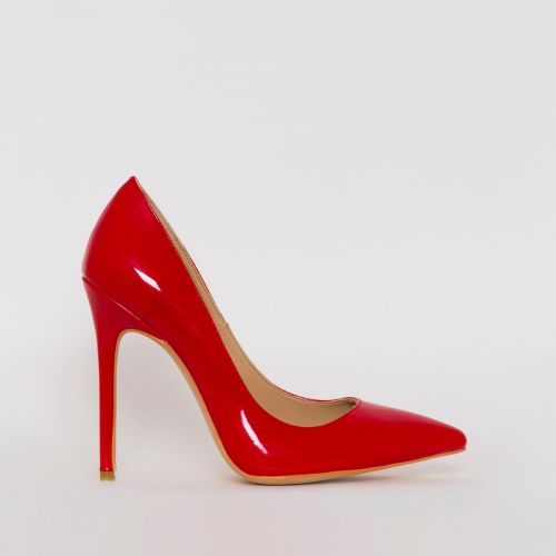 Mila Red Patent Stiletto Court Shoes