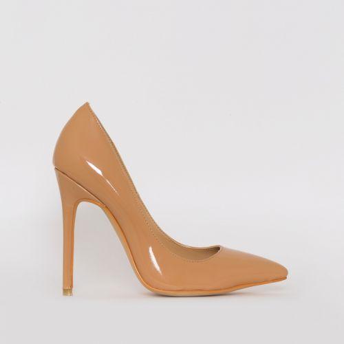 Mila Nude Patent Stiletto Court Shoes