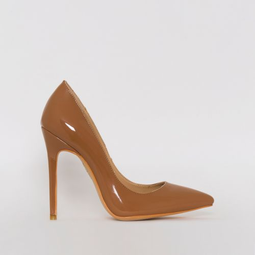 Mila Deep Nude Patent Stiletto Court Shoes