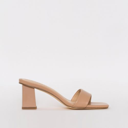Kirby Nude Mid Block Mules