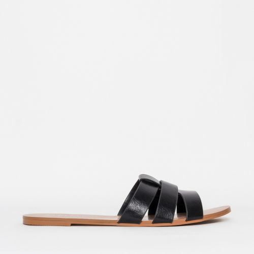 Brooke Black Cutout Sliders