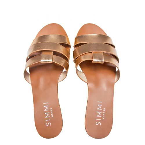 Brooke Rose Gold Cutout Sliders