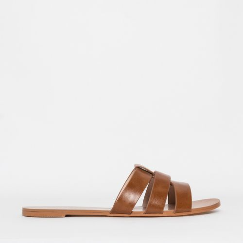 Brooke Tan Cutout Sliders