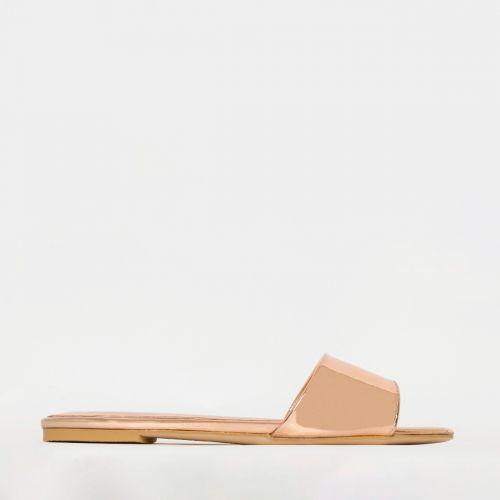 Zara Rose Gold Flat Sliders