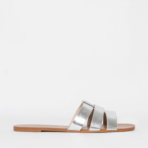 Brooke Silver Cutout Sliders