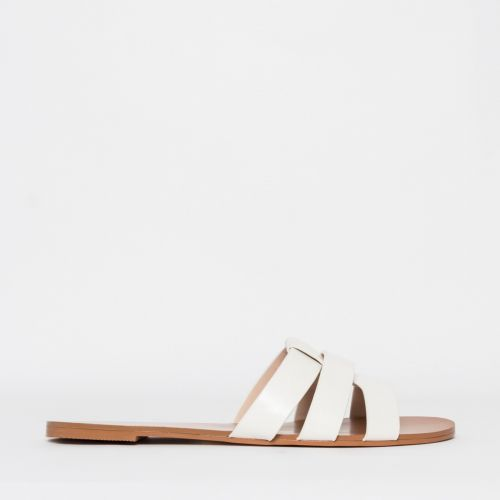 Brooke White Cutout Sliders