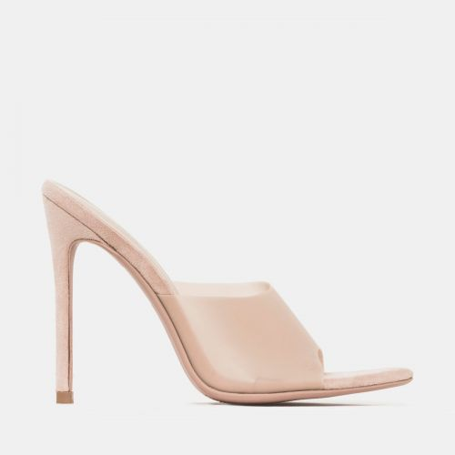 Ayla Baby Pink Frost Stiletto Mules