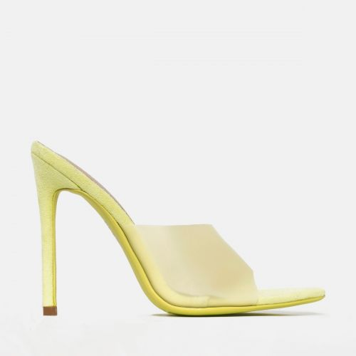 Ayla Lemon Frost Stiletto Mules