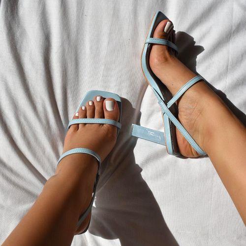 SONIA X FYZA Candy Blue Block Heels
