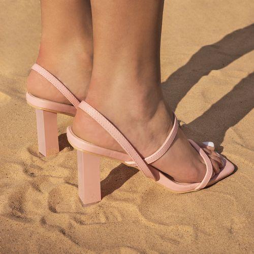 SONIA X FYZA Candy Pink Block Heels
