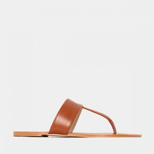 Hope Tan Flat Thong Sandals