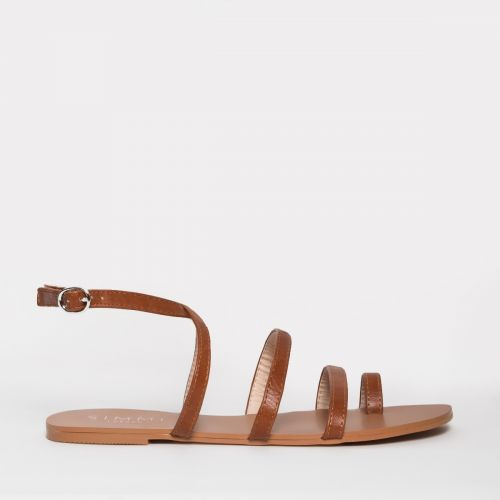 Heena Tan Strappy Sandals