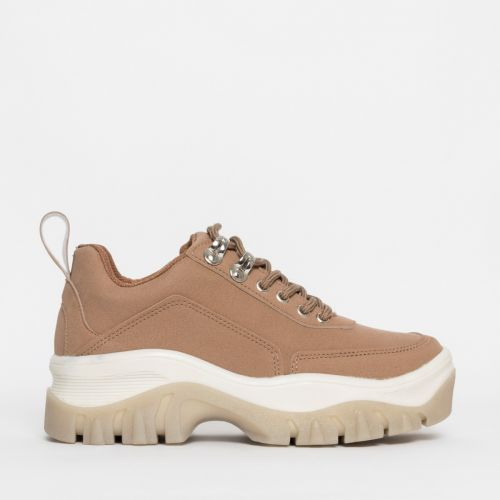 Juice Beige Chunky Lace Up Sneakers