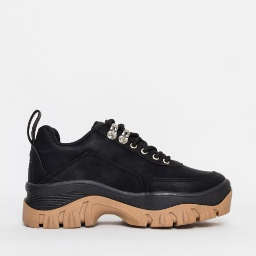Juice Black Chunky Lace Up Sneakers
