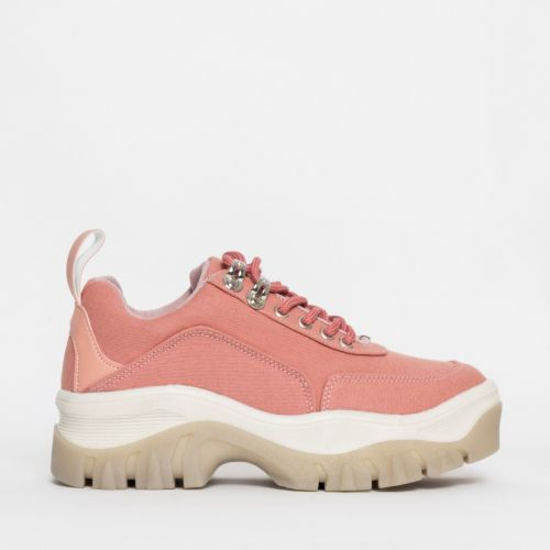 Juice Pink Chunky Lace Up Sneakers