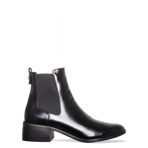 Neve Black Ankle Chelsea Boots