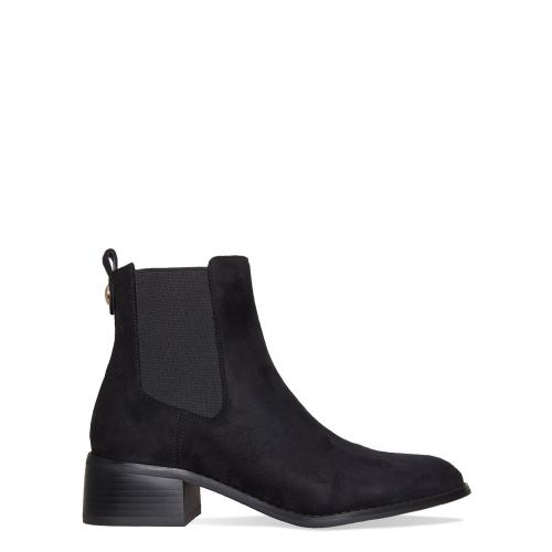 Neve Black Suede Ankle Chelsea Boots
