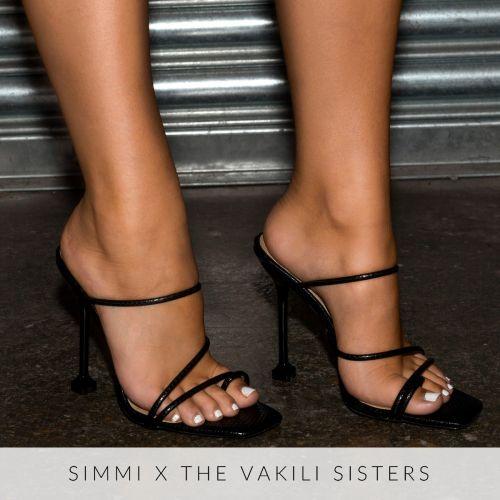 Marni Black Snake Print Strappy Mule Heels