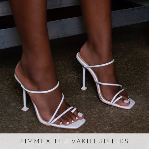 Marni White Snake Print Strappy Mule Heels