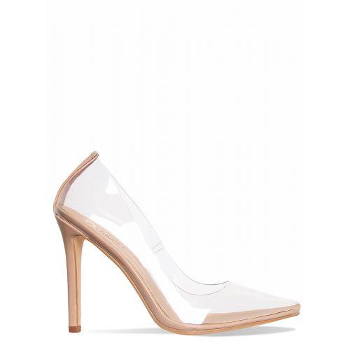 Nova Nude Clear Stiletto Court Shoes