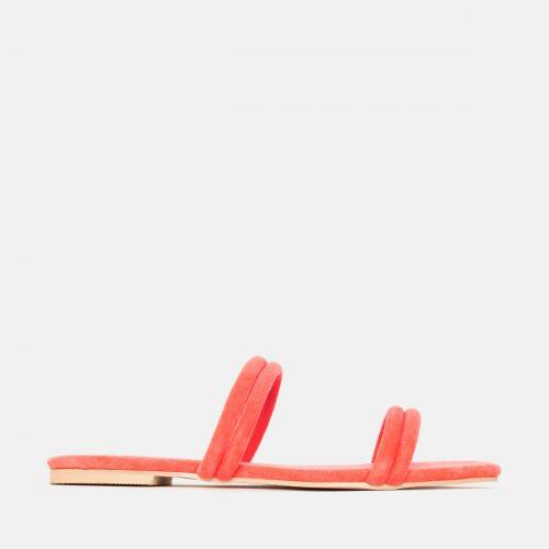 Rai Coral Suede Strappy Slides