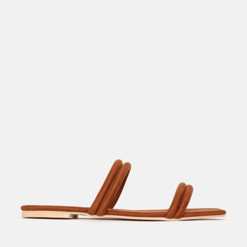 Rai Tan Suede Strappy Slides