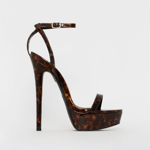Immi Tortoiseshell Print Platform Stiletto Heels