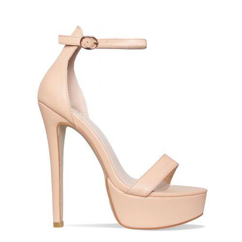 Selena Nude Platform Stiletto Heels
