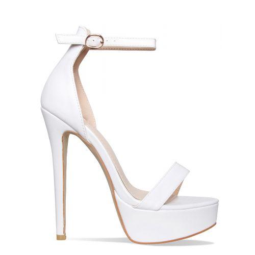 Selena White Platform Stiletto Heels