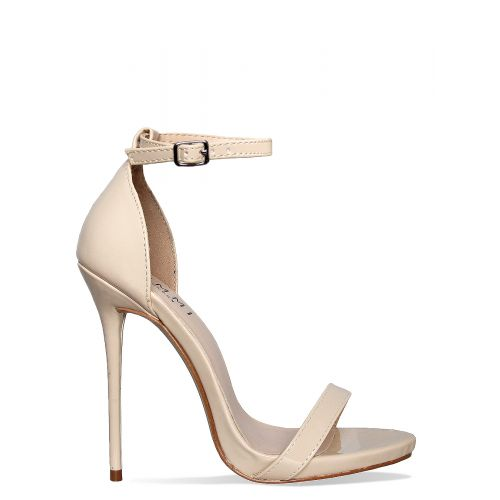 Kim Vanilla Patent Barely There Stiletto Heels