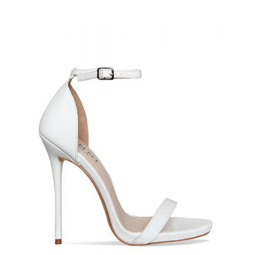 Selma White Patent Barely There Stiletto Heels