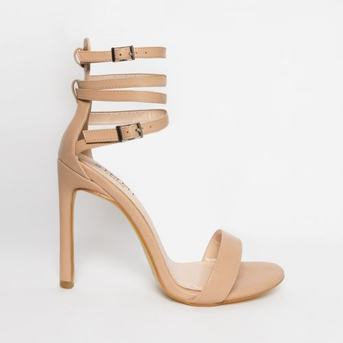 Shari Nude Lace Up Heels