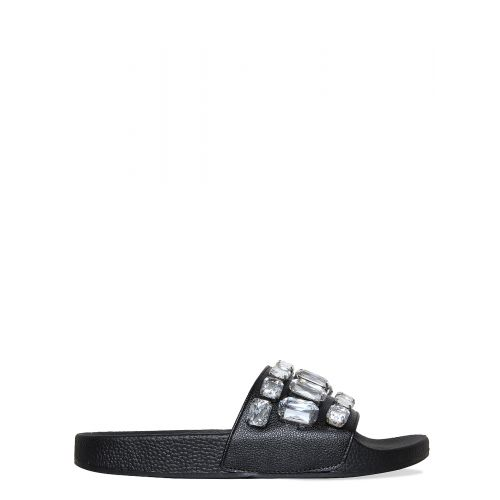 Lainey Black Large Diamante Gem Sliders