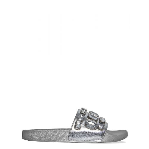 Lainey Silver Large Diamante Gem Sliders