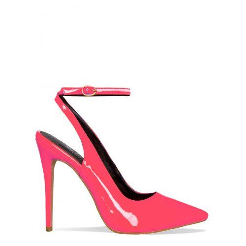 Stella Neon Pink Slingback Stiletto Court Heels