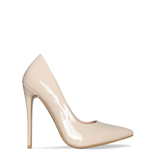 Imani Vanilla Patent Stiletto Court Shoes