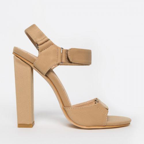 Taniyah Nude Lycra Block Heels