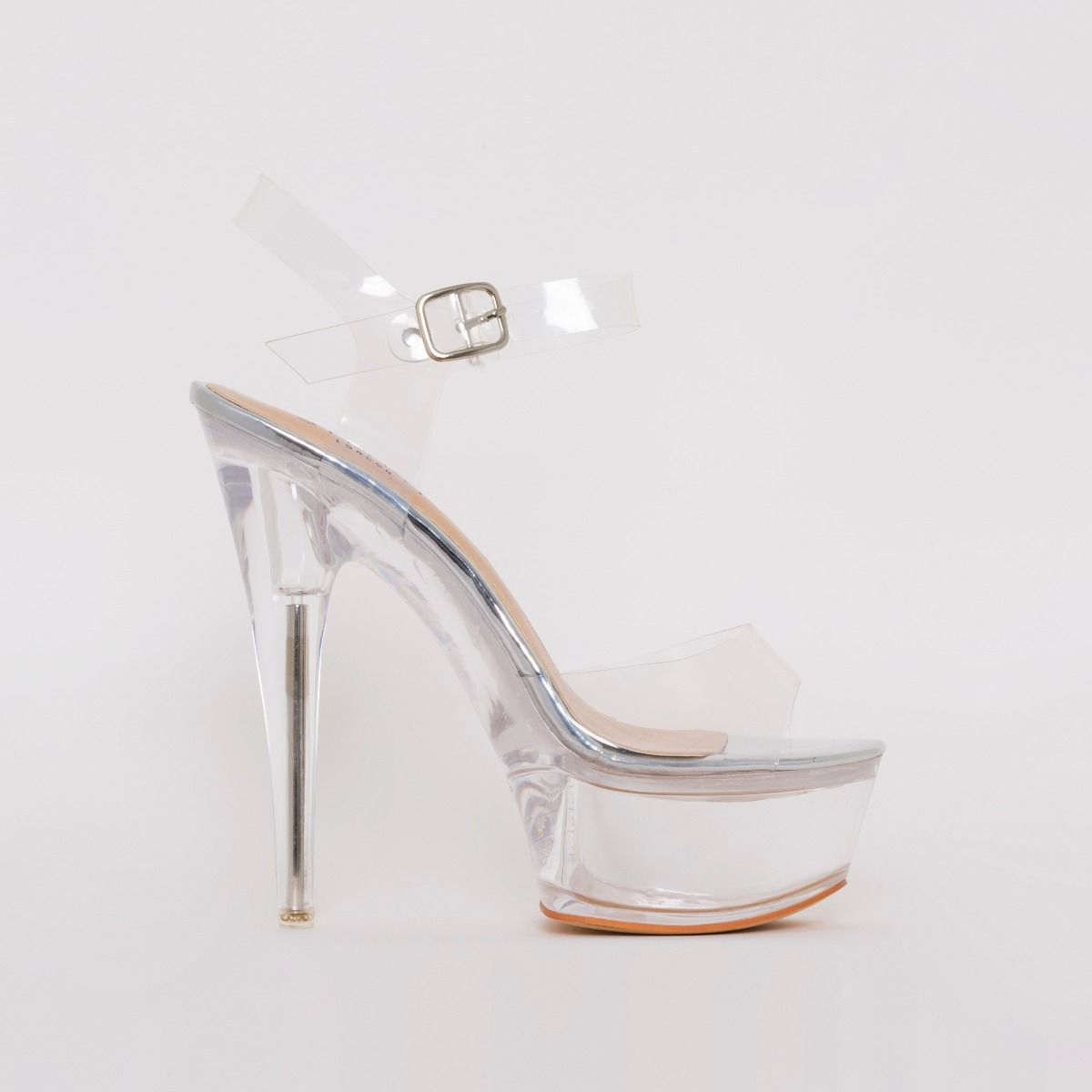 Remy Silver Clear Platform Heels